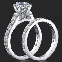 Jewelers 6 Prong Reverse Tapered Engagement Rings Handmade to Suit Your Taste and Budget