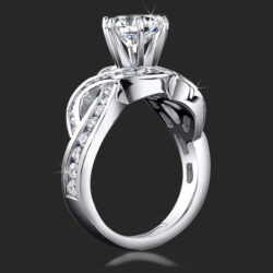 1.20 ctw. 4 Curved Channel Set Diamond Engagement Ring - bbr452