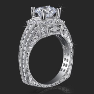 Crown Flat Bottom European Style Band with Over 80 Hand Set High Quality Diamonds – bbr350