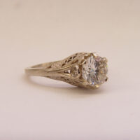 140fbbr | Pre-Set Antique Filigree Ring | 1.50ct. Multiple Round Diamonds | Marquise Drops<br>$11045