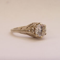 140fbbr   Pre-Set Antique Filigree Ring   1.50ct. multiple round diamond   Marquise Drops