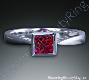 .33 ctw. 18K Gold Invisible Set Ruby Tapered Ring – cgrRG7150