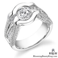 1.0 ctw. 14K Gold Diamond Engagement Ring – nrd197-1