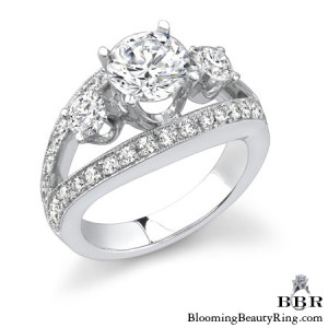 1.15 ctw. 14K Gold Diamond Engagement Ring – nrd318