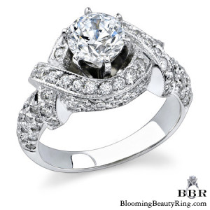 1.18 ctw. 14K Gold Diamond Engagement Ring – nrd327
