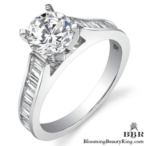 1.0 ctw. 14K Gold Diamond Engagement Ring – nrd334-1