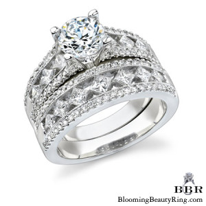 1.38 ctw. 14K Gold Diamond Engagement Ring Set – nrd348eb