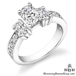 1.10 ctw. 14K Gold Diamond Engagement Ring - nrd360-1