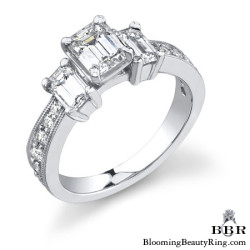 1.06 ctw. 14K Gold Diamond Engagement Ring - nrd360