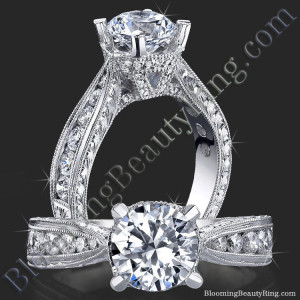 Compliments Abound 4 Prong Antique Inspired Tapered Thick Band with V Crown – bbr414