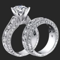 Jewelers Above And Beyond with More Than 4 Carats of Huge Top Quality Round Diamonds<br>$7400