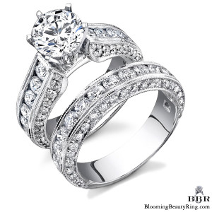 2.90 ctw. 14K Gold Diamond Engagement Ring Set – nrd411eb-1