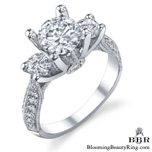 .90 ctw. 14K Gold Diamond Engagement Ring – nrd456-1