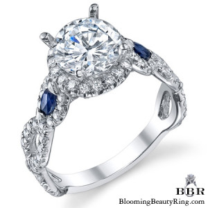 .90 ctw. Sapphire and Diamond Engagement Ring – nrd543