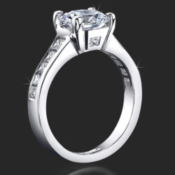 .82 ctw. Deep Channel Set Diamond Engagement Ring - bbr422