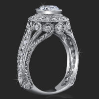 Head Turning Bezel Set Vintage Queen with Stylish Antique Qualities and Unsurpassed Beauty