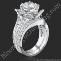 1.67 ctw. Original Small Blooming Beauty Flower Ring Set