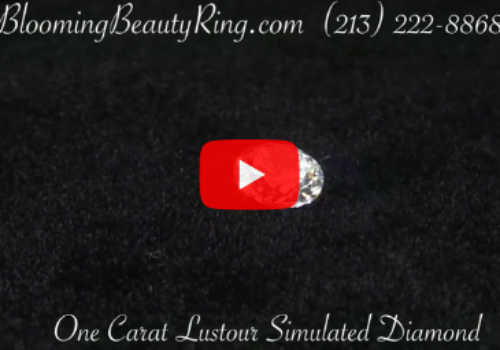 One Carat Round Lustour Simulated Diamond Gemstone