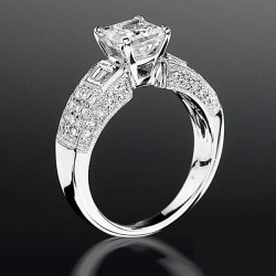 Pave Wide Diamond Band with Intricate Milgrain Edging and Design bbrnw6003