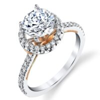 .45 ctw. Halo Engagement Ring BBR-675E