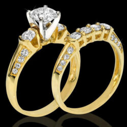 Tension and Modified Basket Knifes Edge Diamond Engagement Ring bbr9733