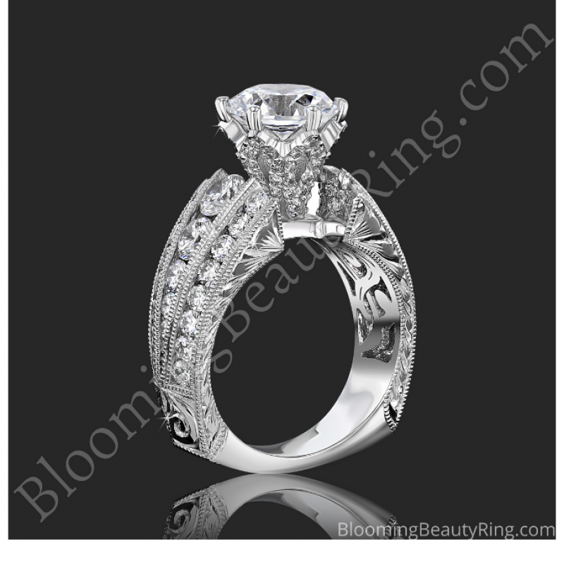 Diamond Crown Engagement Ring – bbr505a