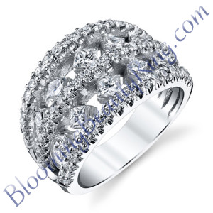 VWR-621-1 | Princess Double Graduate Vintage Wedding Ring