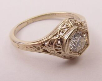 Filigree Antique and Vintage Engagement Rings