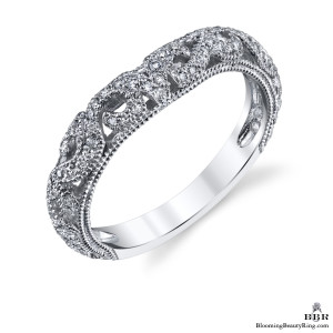 .35 ctw. Matching Blooming Rose Diamond Wedding Band – bbr611b