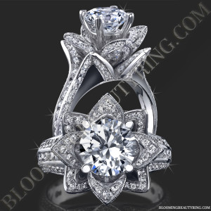 1.78 ctw. Original Large Blooming Beauty Flower Ring – bbr434