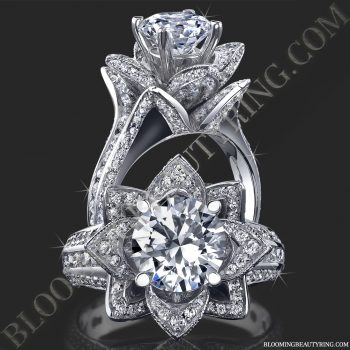 1.78 ctw. Original Large Blooming Beauty Flower Ring<br>$4400