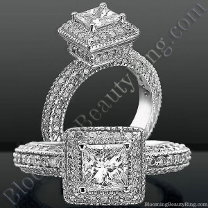 Crown Jewel Diamond Halo Engagement Ring – bbr3299
