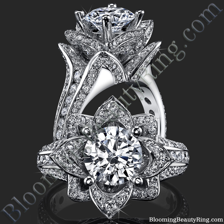 Different Angle of the Flower Ring