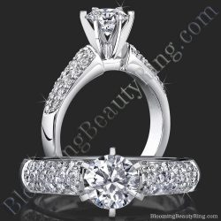 .50 ctw. Micro Pave 6 Prong Diamond Engagement Ring