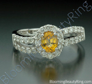 1.26 ctw. Oval Yellow Sapphire and Diamond Wave Ring – cgrRG192