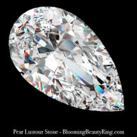 2 ct. Pear Lustour Stone