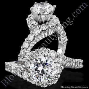 Perfectly Designed Twist and Endless Loop Diamond Setting with 6 Secure Prongs – bbr387