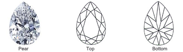 Popular Loose Pear Diamond Shape