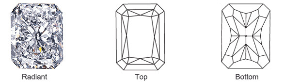 Popular Loose Radiant Diamond Shape