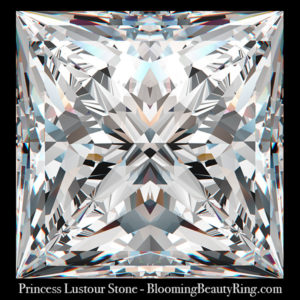 1.75 ct. Princess Cut Lustour Stone