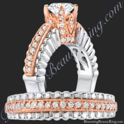 rose gold ring and band