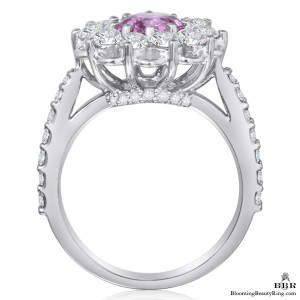 Brilliantly Faceted Round Pink Sapphire and Diamond Open Lace Gemstone Ring – jtr194