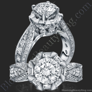 She Will Say Yes! Unique Round Diamond Engagement Ring – bbr458