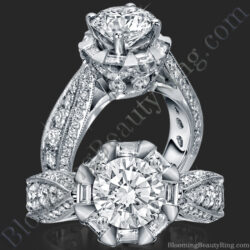 She Will Say Yes! Unique Round Diamond Engagement Ring