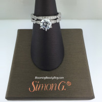 Simon G Duchess Bevel and Pave Bridal Set - MR1546
