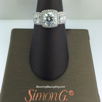 Simon G Elite 3 Stone Diamond Engagement Ring - MR2080