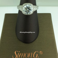 Simon G Passion Escalating Set Halo Bridal Ring - MR2181