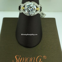 Simon G Reminisce Triple Loop Engagement Ring - MR1470