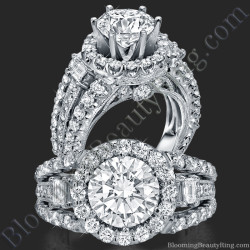 Spellbound - Enchanting Diamond Halo Engagement Ring - bbr608