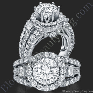 Spellbound – Enchanting Diamond Halo Engagement Ring – bbr608